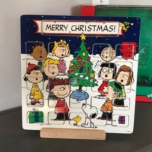 Peanuts Advent Calendar Wooden Display Set